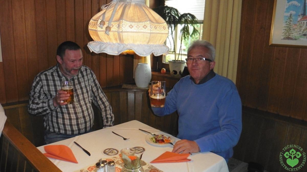 """Beim Mittagessen im Landgasthof """"Wacker"""" in Bad Rodach"""